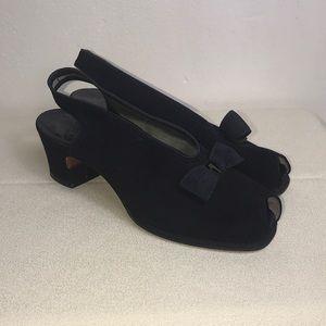Black Suede Vintage Heels by I.Miller